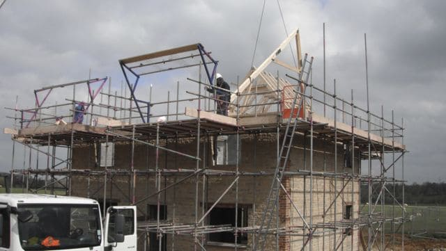 new-build-house-roof-scaffolding