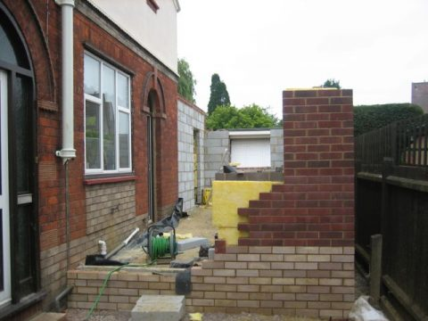 two-storey-extension-walls-being-built